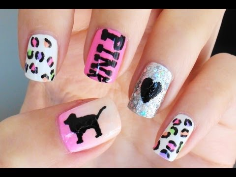 How To Victorias Secret PINK Nails  YouTube