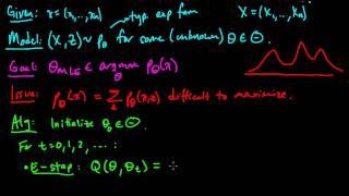 (ML 16.3) Expectation-Maximization (EM) algorithm