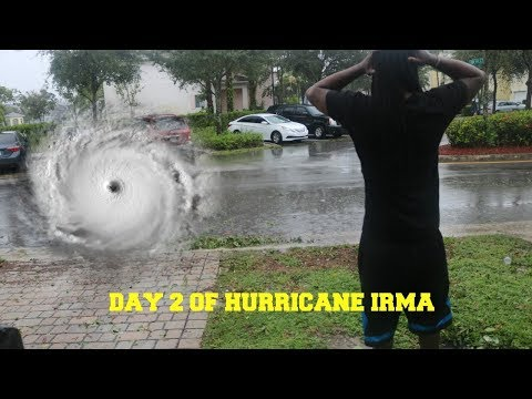DAY 2 OF HURRICANE IRMA CATEGORY 5