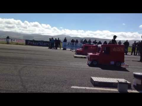 Worlds Fastest Postman Pat Van & The Express Van Making A Pass @ Jurby, Isle Of Man