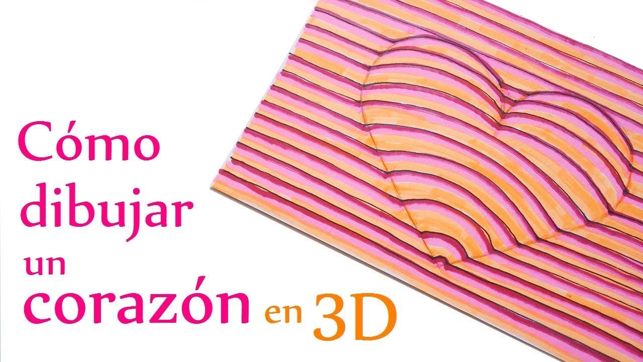 Imagenes De Amor Con Efectos: Manualidades Para Niños: Cómo Dibujar Un CORAZÓN En 3D