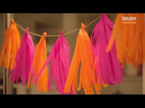 Guirnaldas coloridas | Decoración para FIESTAS | @iMujerHogar