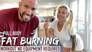 Full Body NO EQUIPMENT Fat burning Workout
