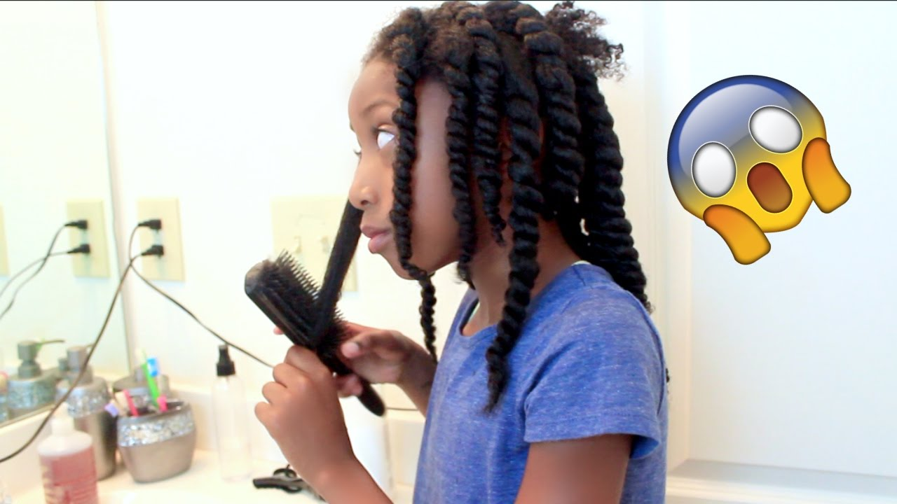 7 year old styles her own hair|little girls natural hair protective style