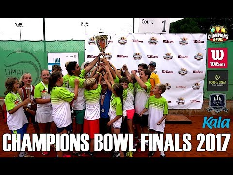 Champions Bowl Finals 2017, tennis tournament for kids aged 9-16, OFFICIAL FILM
