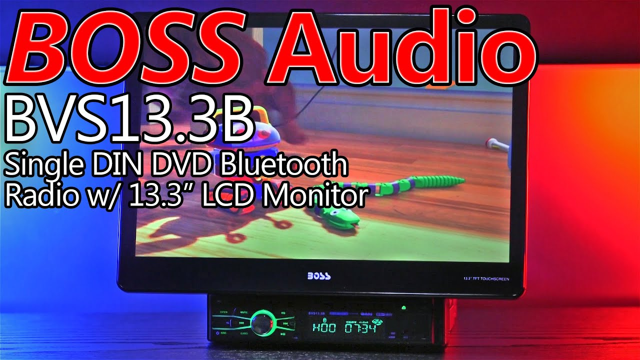 boss audio bvs13 3b 13 3 single din car stereo crazy big screen must see  [ 1280 x 720 Pixel ]