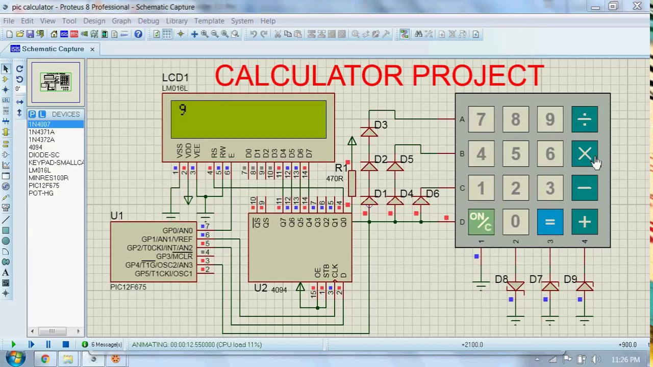 Final Year Electronics Project #2 - Calculator using Microcontroller ...