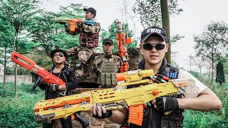LTT Game Nerf War : Double Swat Warriors SEAL X Nerf Guns Fight Braum Crazy Armed Bandits