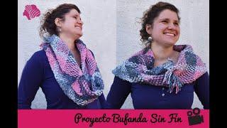 How to make a woven Infinity Scarf / Cómo hacer una Bufanda sin fin en telar de bastidor