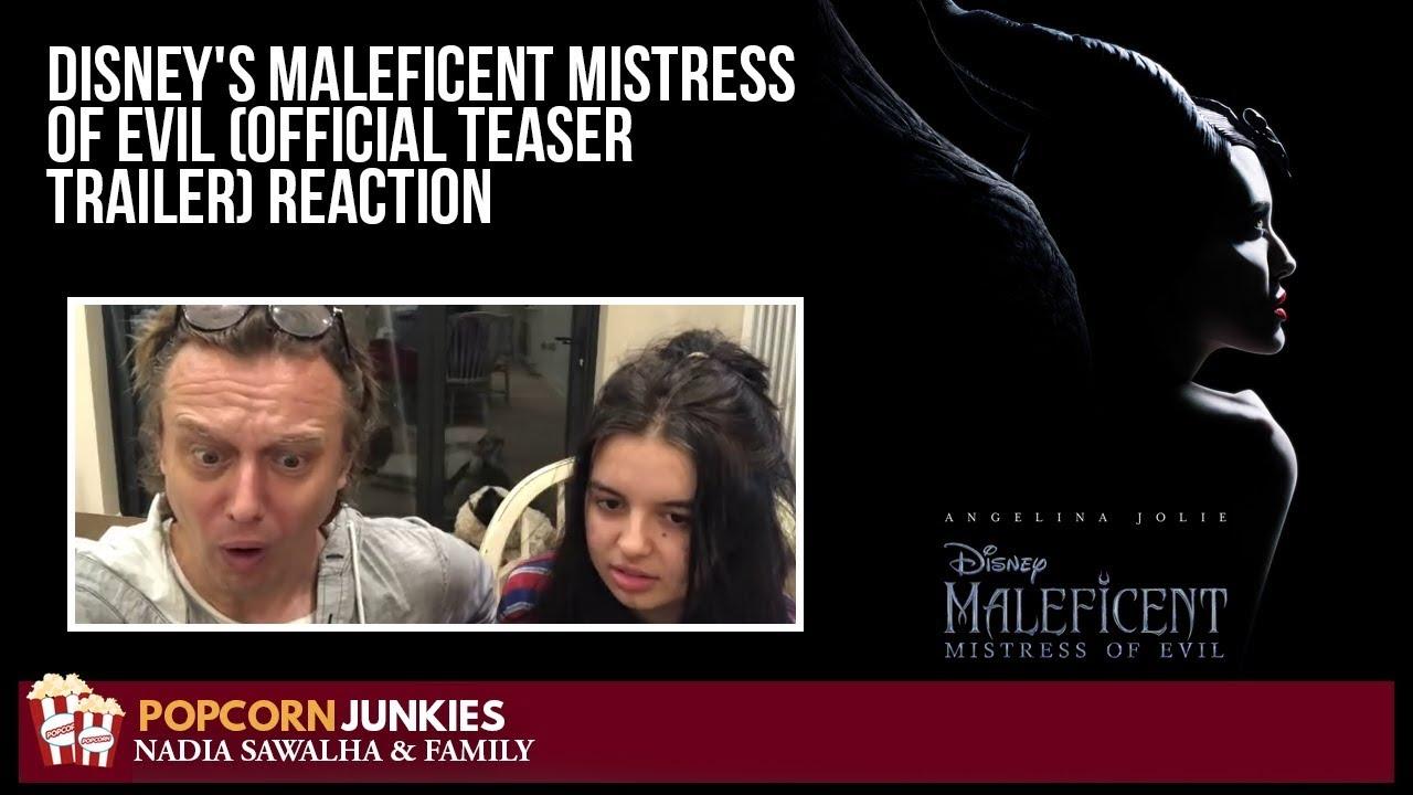 Disney S Maleficent Mistress Of Evil Official Teaser Trailer The Popcorn Junkies Family Reaction