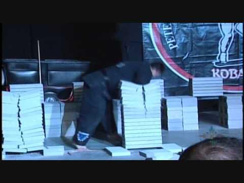 Larry Fields- Elbow through 12 concrete patio blocks