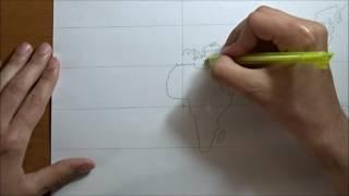 Dünya haritası nasıl çizilir? / How to draw world map?