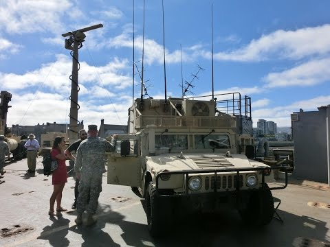 Inside Army Communication Van And Remotely Controled Naval Radar On MV Cape Hudson