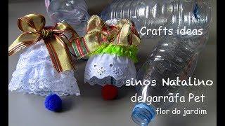 Sinos Natalino com Garrafa Pet – Decoração Para o Natal