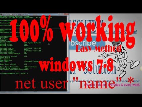 Change Windows 7/8 Administrator Password By cmd (100%)