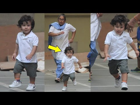 Taimur Ali Khan Running Away From Nanny To Meet Media Photographers In Kareena Kapoor Khan's Absence