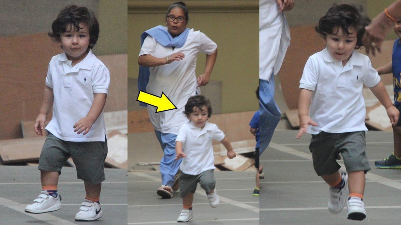 Image result for taimur ali khan nanny running