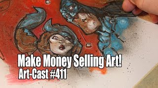 Artcast #411 - how to make money selling art online? join my mailing list, never miss a video ... http://eepurl.com/bpgdmx hi all, in this i'm creating...