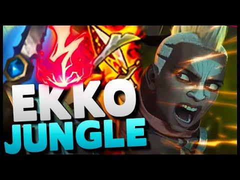 How to HARD CARRY with Ekko jungle! 21 kills diamond gameplay (insane burst damage)