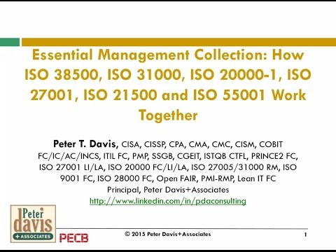 Essential Management Collection  How ISO 38500, ISO 31000, ISO 20000 1, ISO 21500 a