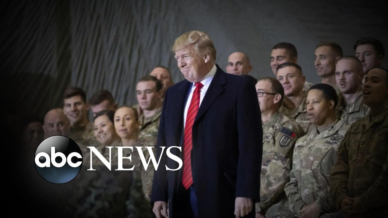President Trump surprises troops in Afghanistan, potential peace negotiations