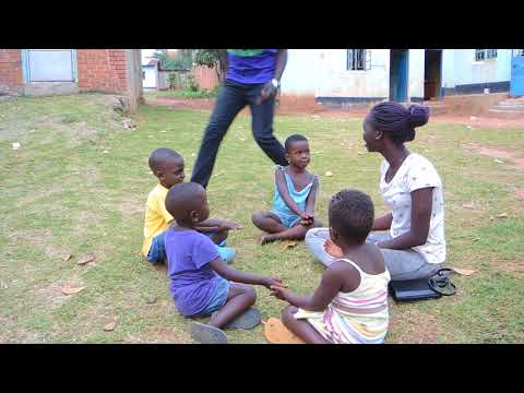 Become True students volunteer with orphans in Kampala