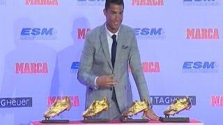 Cristiano gana su cuarta Bota de Oro, pero quiere más
