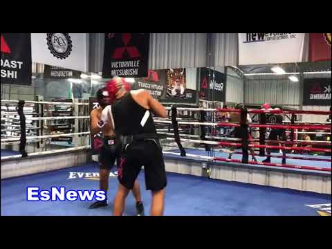 UFC Superstar Jose Aldo Must See Full Sparring WIth Boxing Champ Abner Mares