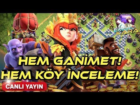 KÖYDE İNCELERİZ GANİMETTE KASARIZ! ACELE YOK RELAX!| CLASH OF CLANS