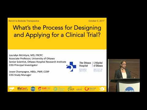 What's the process of designing and applying for a clinical trial?