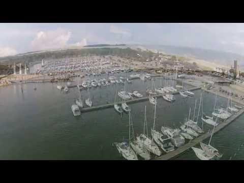 Assens Marina set fra luften