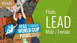 IFSC Climbing World Cup Puurs 2015 - Lead - Final - Males/Female