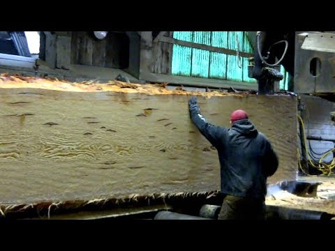 Dangerous Biggest Wood Sawmill Machines Working - Fastest Wood Cutting Chainsaw Machine