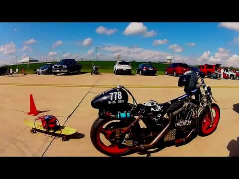 How fast is your Sportster? land speed racing at Ohio mile.