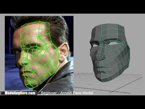 How to Model a Face - Low Poly Beginner 3D Modeling Tutorial