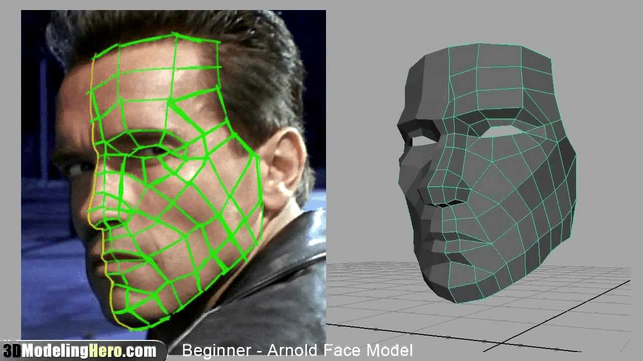 How To Model A Face Low Poly Beginner 3d Modeling