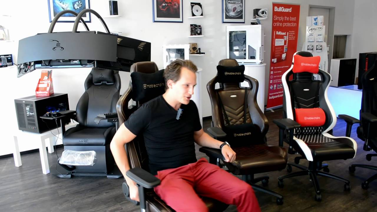 kurzvorstellung noblechairs echtleder gaming st hle youtube. Black Bedroom Furniture Sets. Home Design Ideas