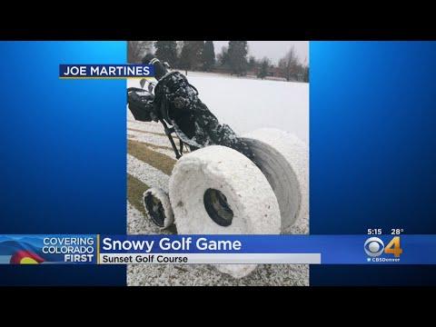 BEARDO - Golfers In Longmont Have Fun In The Snow