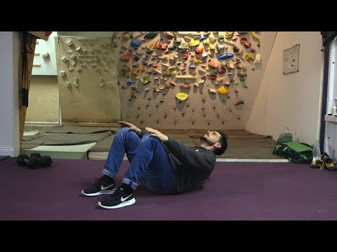 Climbing Training: How to do a crunch
