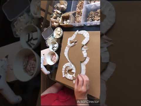 Морской конек из ракушек своими руками