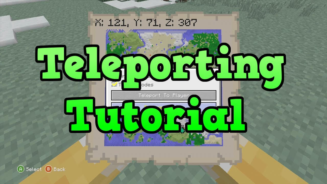 Minecraft Xbox PS How To Teleport Tutorial YouTube - Minecraft andere spieler teleportieren