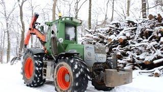 Fendt Wario 820 am Holzrücken | Winter 2k15 / 2k16 | HD