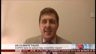 BBC News Interview at UNFCCC COP24 with Solar Head of State Director James Ellsmoor
