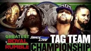 Bludgeon Brothers VS The USOS SD Live tag Team Championship Greatest Royal Rumble 2018 Match Card