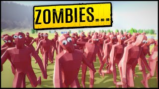 the barbarian horde vs the peasant zombie army totally accurate battle simulator gameplay