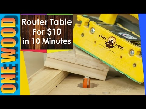 How to build a router table for Woodworking for under $10 – Woodworking video for beginners