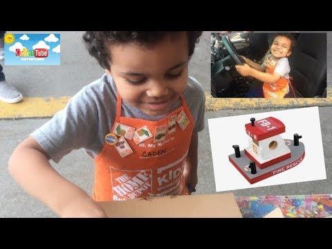 Kids Making Crafts! The Home Depot Kids Workshop October 2018!