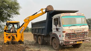 New JCB 3DX Ecoxellence Loading Mud In Dump Truck For Home Construction