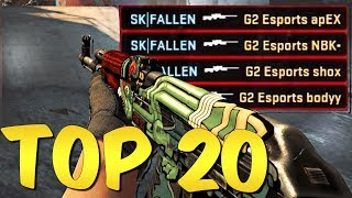 BEST PRO MOMENTS! Top 20 CS:GO Pro Plays #9