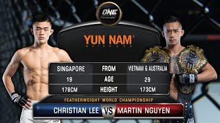 Martin Nguyen Vs. Christian Lee    Full Fight Replay